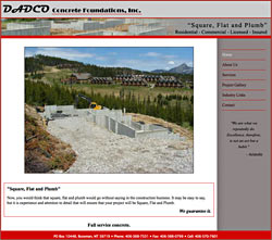 DADCO Concrete Foundations website