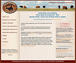 Headwaters Livestock website